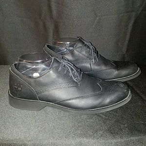 Timberland Black Leather Men's Oxfords